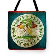 Grunge Belize Flag  Tote Bag