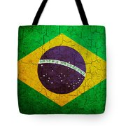 Grunge Brazil Flag Tote Bag