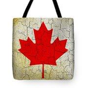 Grunge Canada Flag Tote Bag