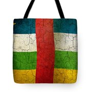Grunge Central African Republic Flag Tote Bag