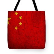 Grunge China Flag Tote Bag