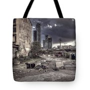 Grunge Cityscape Tote Bag