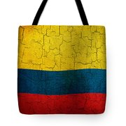 Grunge Colombia Flag Tote Bag