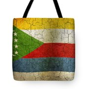 Grunge Comoros Flag Tote Bag