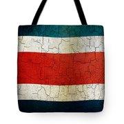 Grunge Costa Rica Flag Tote Bag
