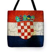 Grunge Croatia Flag Tote Bag