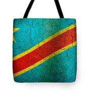 Grunge Democratic Republic Of The Congo Flag Tote Bag
