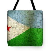 Grunge Djibouti Flag Tote Bag