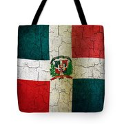 Grunge Dominican Republic Flag Tote Bag