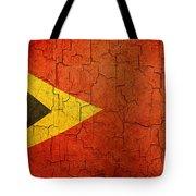 Grunge East Timor Flag Tote Bag