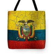 Grunge Ecuador Flag Tote Bag
