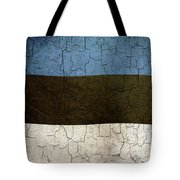 Grunge Estonia Flag Tote Bag