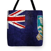 Grunge Falkland Islands Flag Tote Bag