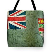 Grunge Fiji Flag Tote Bag