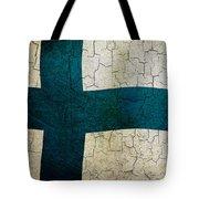 Grunge Finland Flag Tote Bag