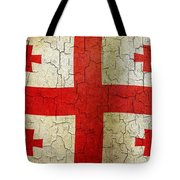 Grunge Georgia Flag Tote Bag