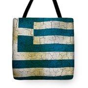 Grunge Greece Flag Tote Bag