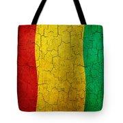 Grunge Guinea Flag Tote Bag