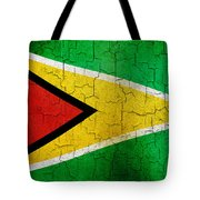Grunge Guyana Flag Tote Bag