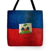 Grunge Haiti Flag  Tote Bag