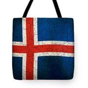 Grunge Iceland Flag Tote Bag