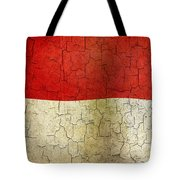 Grunge Indonesia Flag Tote Bag
