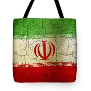 Grunge Iran Flag Tote Bag