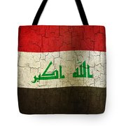 Grunge Iraq Flag Tote Bag
