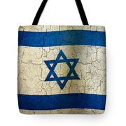 Grunge Israel Flag Tote Bag