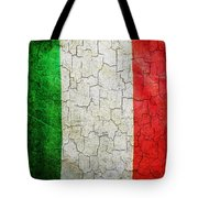 Grunge Italy Flag Tote Bag