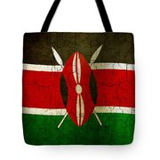 Grunge Kenya Flag Tote Bag