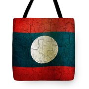 Grunge Laos Flag Tote Bag