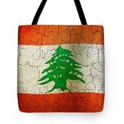 Grunge Lebanon Flag Tote Bag