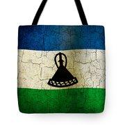 Grunge Lesotho Flag Tote Bag
