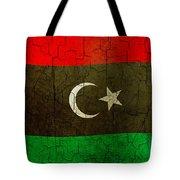Grunge Libya Flag Tote Bag