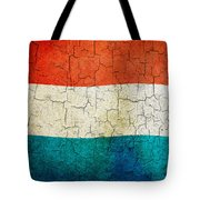 Grunge Luxembourg Flag Tote Bag