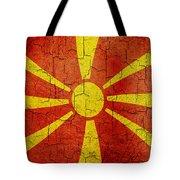 Grunge Macedonia Flag Tote Bag
