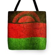 Grunge Malawi Flag Tote Bag