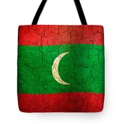 Grunge Maldives Flag Tote Bag