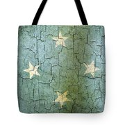 Grunge Micronesia Flag Tote Bag