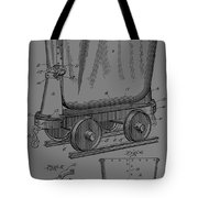 Grunge Mine Trolley Patent Tote Bag