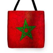 Grunge Morocco Flag Tote Bag