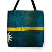 Grunge Nauru Flag Tote Bag