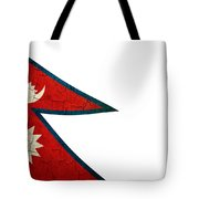 Grunge Nepal Flag Tote Bag