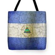 Grunge Nicaragua Flag Tote Bag