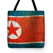 Grunge North Korea Flag Tote Bag