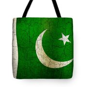 Grunge Pakistan Flag Tote Bag