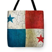 Grunge Panama Flag Tote Bag