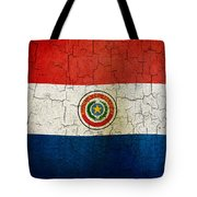 Grunge Paraguay Flag Tote Bag