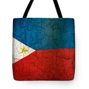 Grunge Philippines Flag Tote Bag